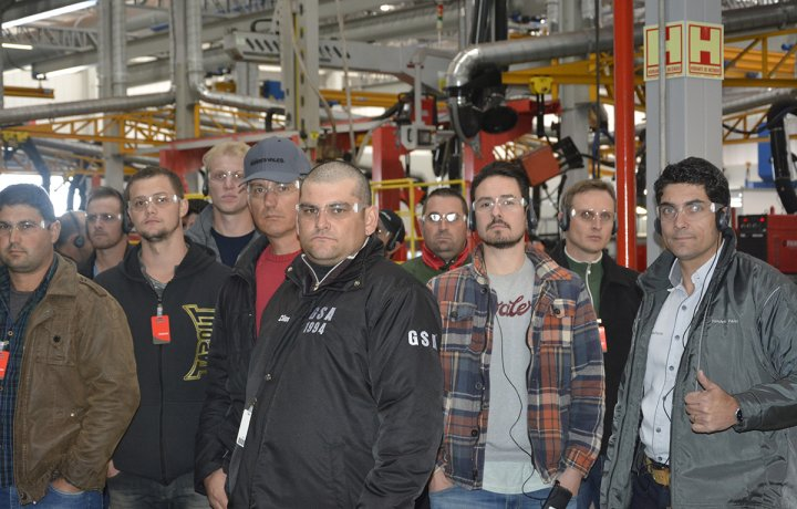Visita técnica Verdes Vales Unidade de Santa Maria - RS