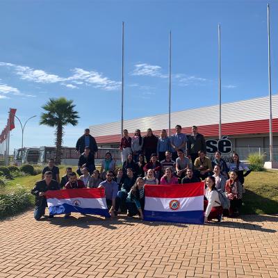 UNAE - Universidade do Paraguay realiza visita a São José Industrial