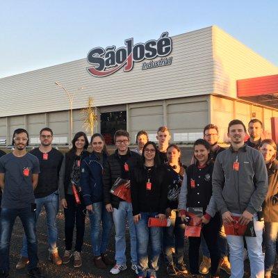 Visita técnica pelo curso de Engenharia de Produção da SETREM Três de Maio - RS